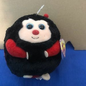 TY Beanie Ballz Collection Dots Lady Bug With Tag Attached Excellent Condition